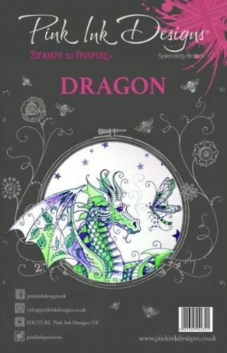 Pink Ink A5 Dragon Clear Stamp Set